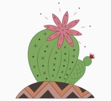 Bright Cactus Vector Illustration One Piece - Short Sleeve