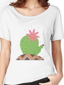 Bright Cactus Vector Illustration Women's Relaxed Fit T-Shirt