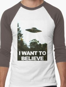 I Want To Believe Men's Baseball ¾ T-Shirt