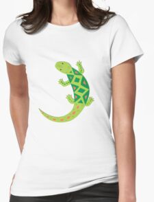 Bright Lizard Vector Illustration Womens Fitted T-Shirt