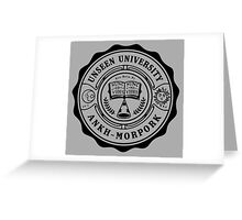 Invisible University Greeting Card