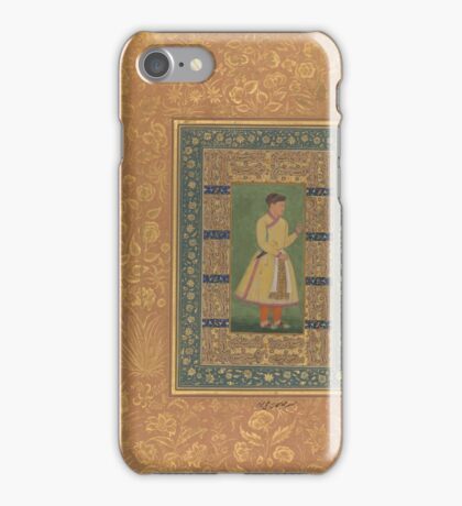 Portrait of Zamana Beg, Mahabat Khan, Folio from the Shah Jahan Album iPhone Case/Skin