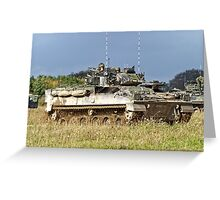 British Army Warrior Infantry Fighting Vehicles Greeting Card