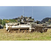British Army Warrior Infantry Fighting Vehicles Photographic Print