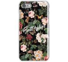 Floral and Butterflies iPhone Case/Skin