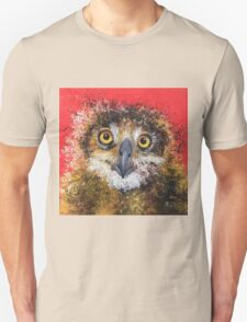 Owl on red background T-Shirt