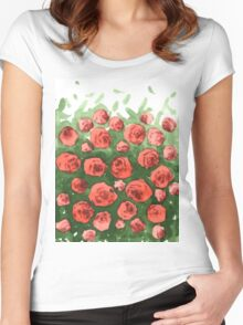 Roses gradient Women's Fitted Scoop T-Shirt