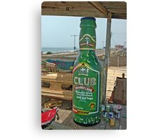 Fantasy Coffin from Ghana, Club Beer for dead drinker Canvas Print