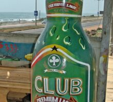 Fantasy Coffin from Ghana, Club Beer for dead drinker Sticker
