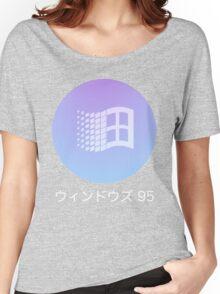 Windows 95 Vaporwave   Women's Relaxed Fit T-Shirt