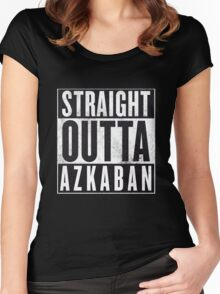 Straight Outta Azkaban Women's Fitted Scoop T-Shirt