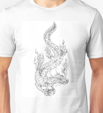 Water dragon retaining in the paws of a pearl Unisex T-Shirt