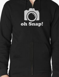 Oh Snap! Funny Photographer Logo Zipped Hoodie