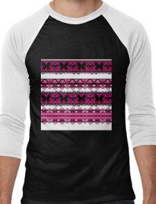 Bright abstract seamless lace pattern romantic print background Men's Baseball ¾ T-Shirt