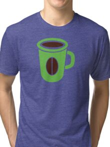 Green coffee mug cute! Tri-blend T-Shirt