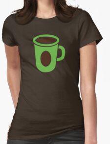 Green coffee mug cute! Womens Fitted T-Shirt