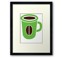 Green coffee mug cute! Framed Print