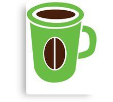 Green coffee mug cute! Canvas Print