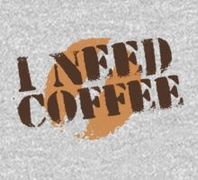 I NEED COFFEE with coffee bean hipster One Piece - Short Sleeve
