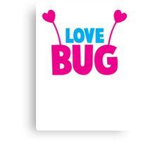 LOVE BUG! ladies or mens cute design with bug antennae Canvas Print