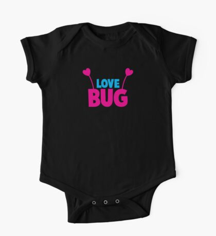 LOVE BUG! ladies or mens cute design with bug antennae One Piece - Short Sleeve
