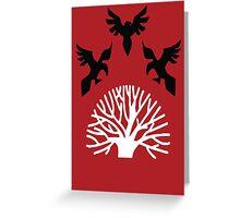 House Blackwood Sigil Greeting Card
