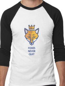 FOXES NEVER QUIT  Men's Baseball ¾ T-Shirt