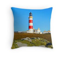 Point of Ayre Lighthouse Isle of Man Throw Pillow