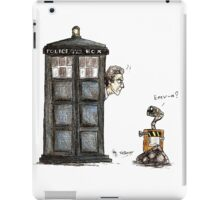 Wall-e meets the Doctor iPad Case/Skin
