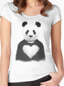 Lovely panda Women's Fitted Scoop T-Shirt