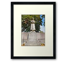 Our fallen German Soldiers in Memory. Unsern Gefallenen Soldaten. Framed Print