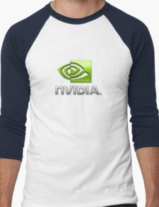 Nvidia's logo Men's Baseball ¾ T-Shirt