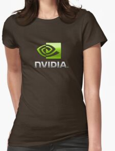 Nvidia's logo Womens Fitted T-Shirt
