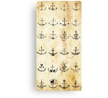 Anchor Pattern Canvas Print