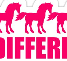 series be different unicorn horse pattern design unicorn pink horse outline silhouette shadow symbol logo stallion Sticker