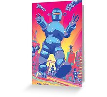 INVASION OF THE GIANT ROBOTS! Greeting Card