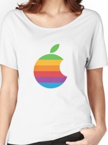 Orange, retro apple Women's Relaxed Fit T-Shirt