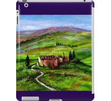 TUSCANY LANDSCAPE WITH GREEN HILLS iPad Case/Skin