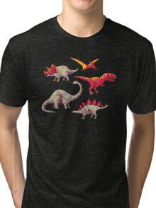 Geo-saurs Tri-blend T-Shirt