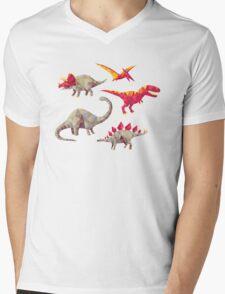 Geo-saurs Mens V-Neck T-Shirt