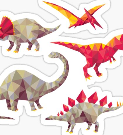Geo-saurs Sticker