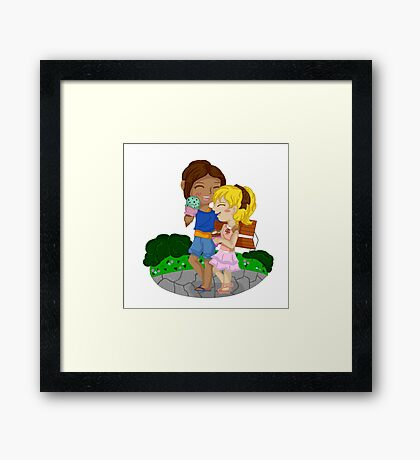 Ymir and Christa (Historia) Ice cream date Framed Print