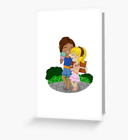 Ymir and Christa (Historia) Ice cream date Greeting Card