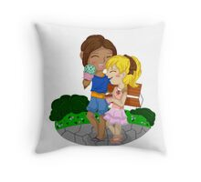Ymir and Christa (Historia) Ice cream date Throw Pillow