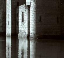 Bodiam Castle mono Sticker