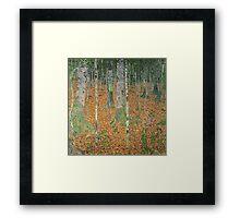 Gustav Klimt - The Birch Wood -  Klimt -Birch Trees  Framed Print