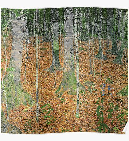 Gustav Klimt - The Birch Wood -  Klimt -Birch Trees  Poster