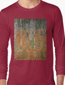 Gustav Klimt - The Birch Wood -  Klimt -Birch Trees  Long Sleeve T-Shirt