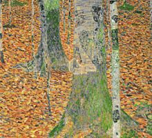 Gustav Klimt - The Birch Wood -  Klimt -Birch Trees  Sticker