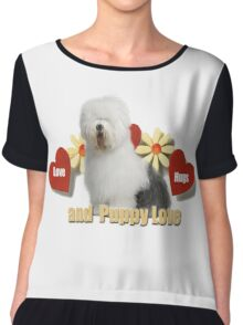 Old English Sheepdog Love Chiffon Top